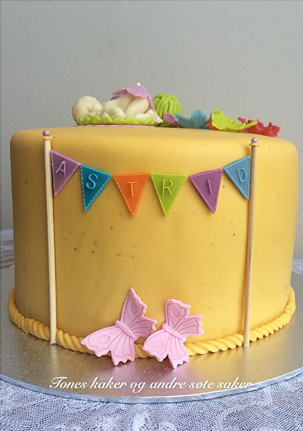 Dåpskake Tones kaker og andre søte saker
