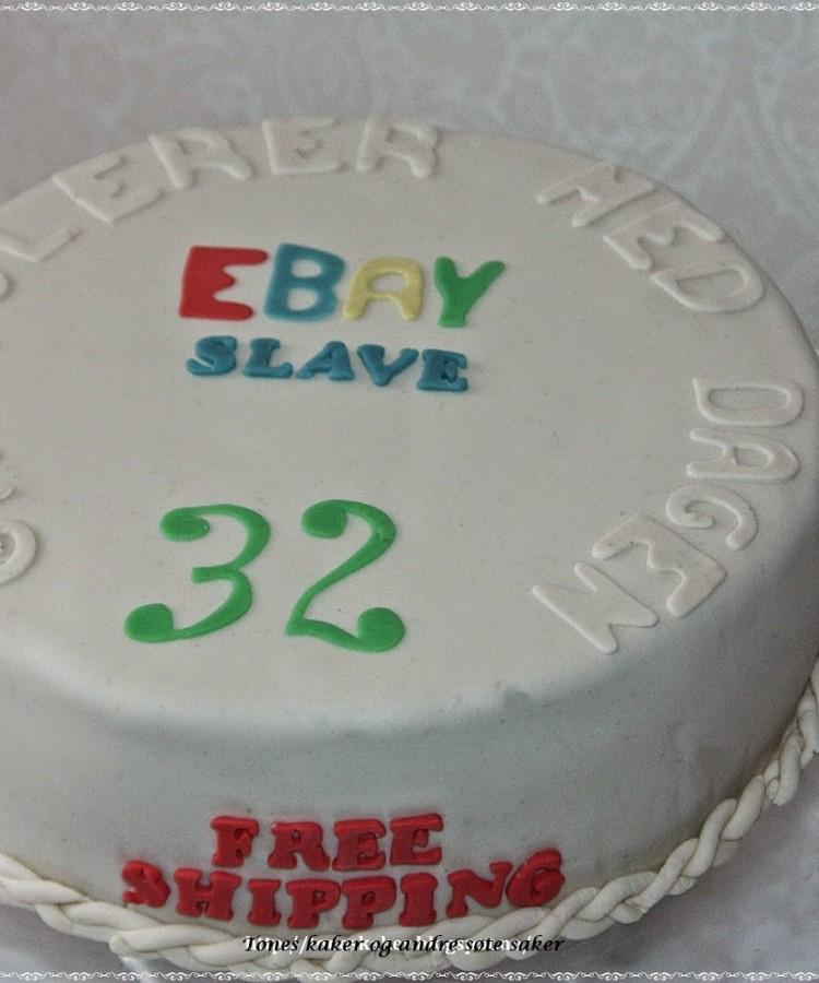 Ebay bursdag Tones kaker og andre søte saker