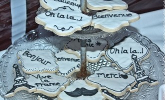 Paris theme Tones kaker og andre søte saker