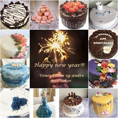 Nyttår Tones kaker og andre søte saker