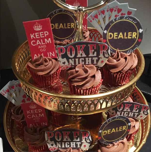 Pokerfest Tones kaker og andre søte saker