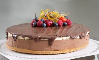 Sjokoladeostekake Kakekrigen pasjonsfruktmousse aTones kaker og andre søte saker